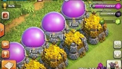 Clash of Clan full or et élixir