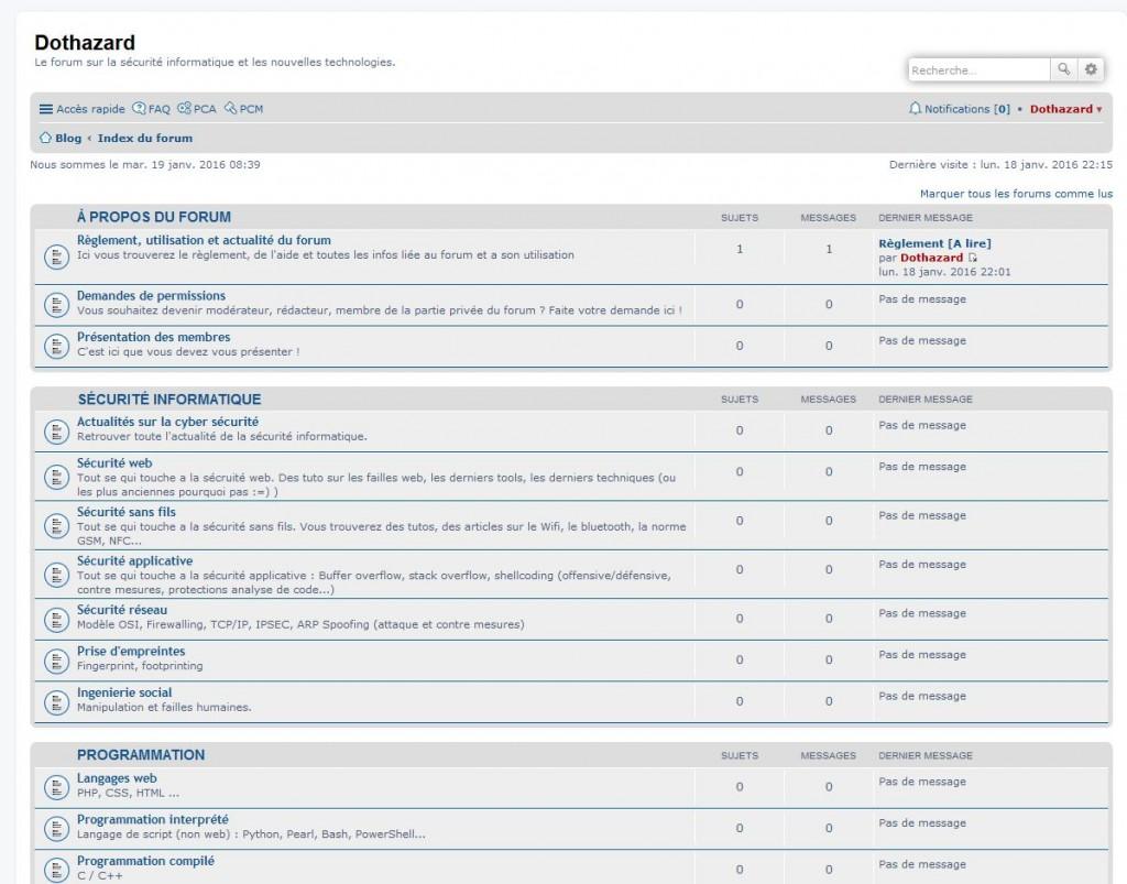 Forum Dothazard basé sur le CMS phpBB