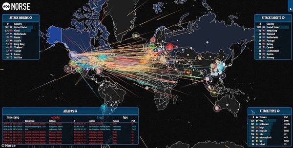 World Live DDOS attack maps Live DDOS-Monitoring blackMORE Ops
