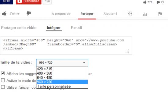 Intégration d'une vidéo Youtube dans un article WordPress