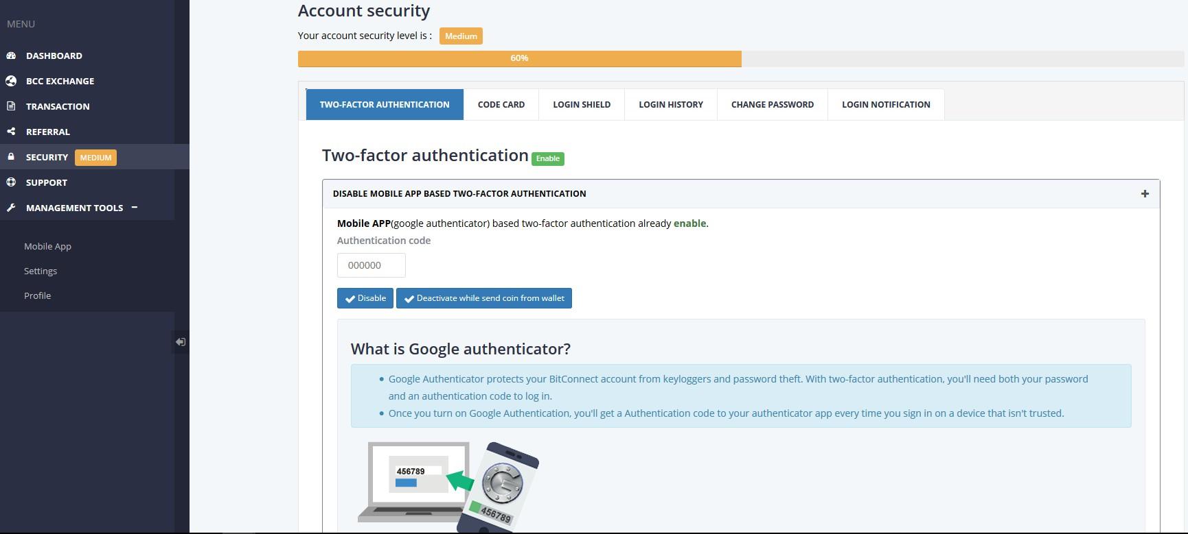 sécurité authentification BCC
