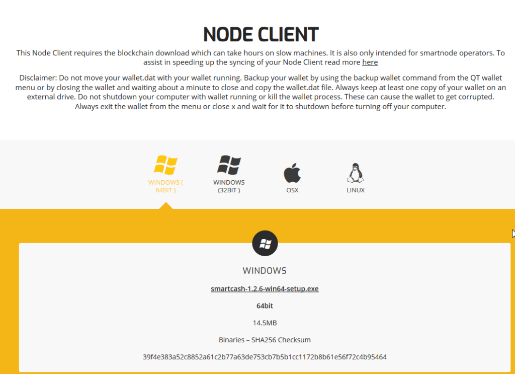Wallets - SmartCash Node Client