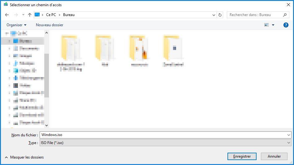 Enregistrer ISO Windows 10
