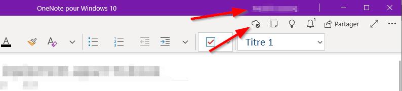 Verifier connexion et synchro OneNote for Windows 10